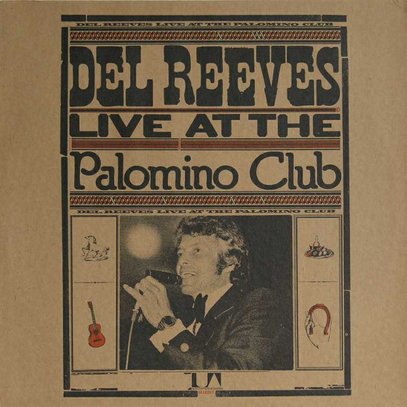 Del Reeves - Live At The Palamino Club  (Country Music vinyl record for sale)