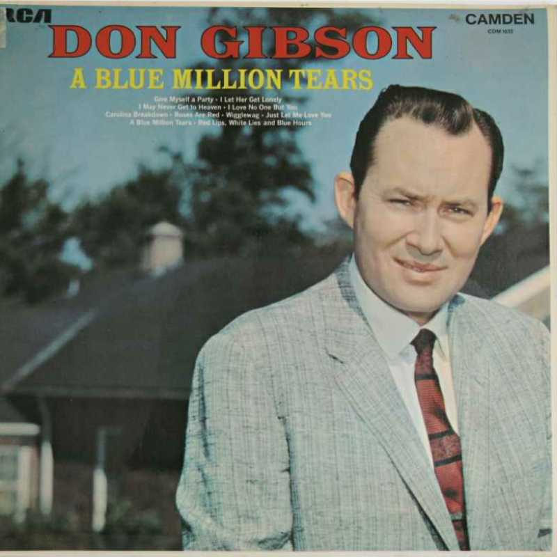 Don Gibson - A Blue Million Tears  (Country Music vinyl record for sale)