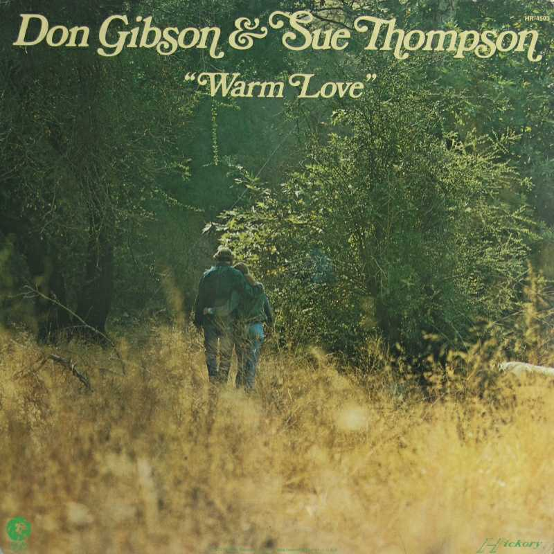 Don Gibson and Sue Thompson - Warm Love  (Country Music vinyl record for sale)