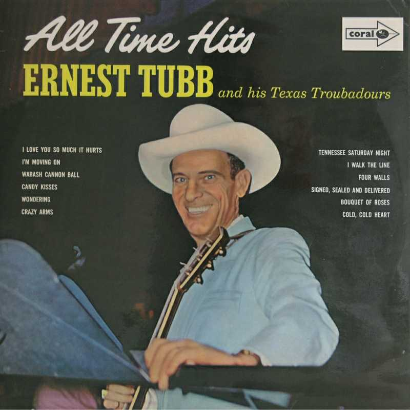 Ernest Tubb - All Time Hits (Country Music vinyl record for sale)