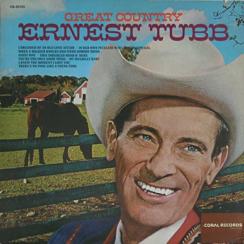 Ernest Tubb - Great Country (Country Music vinyl record for sale)