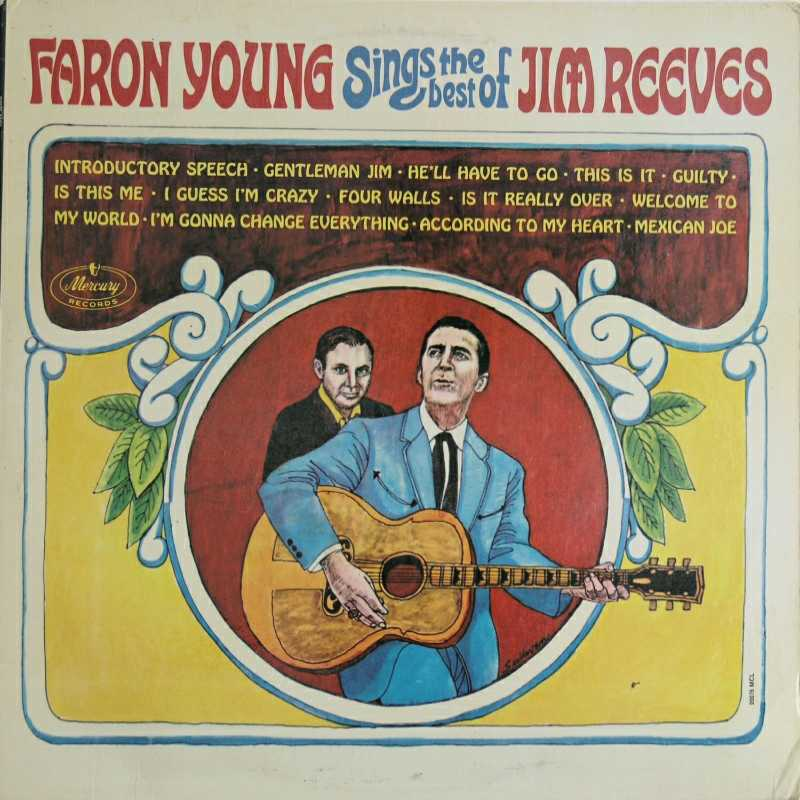 Faron Young - Faron Young Sings The Best Of Jim Reeves  (Country Music vinyl record for sale)