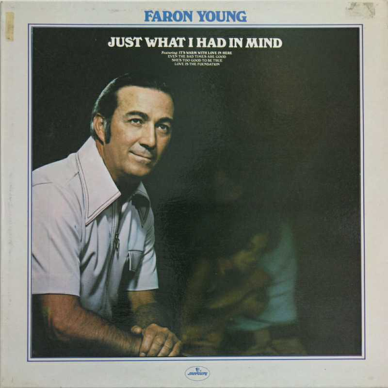 Faron Young - Just What I Had In Mind  (Country Music vinyl record for sale)