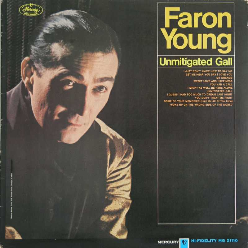 Faron Young - Unmitigated Gall  (Country Music vinyl record for sale)