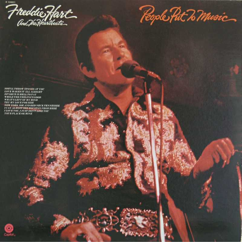 Freddie Hart - People Put To Music(Country Music vinyl record for sale)