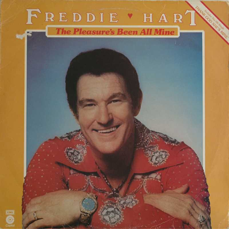 Freddie Hart - The Pleasure's Been All Mine(Country Music vinyl record for sale)