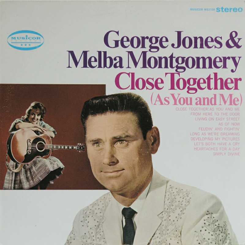 George Jones and Melba Montgomery - Close Together (As You And Me)  (Country Music vinyl record for sale)