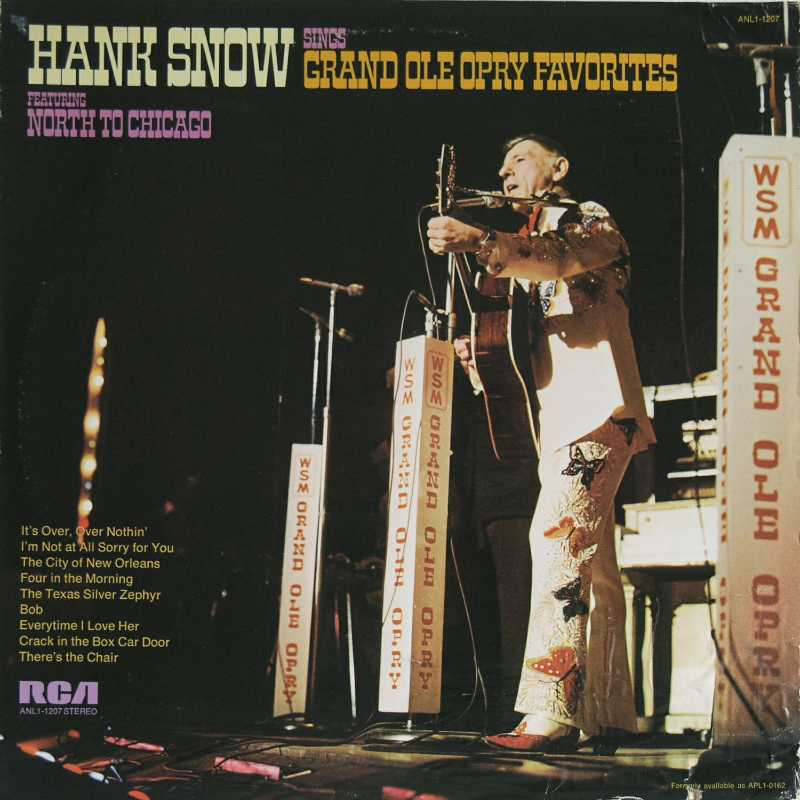 Hank Snow - Hank Snow Sings Grand Ole Opry Favorites  (Country Music vinyl record for sale)