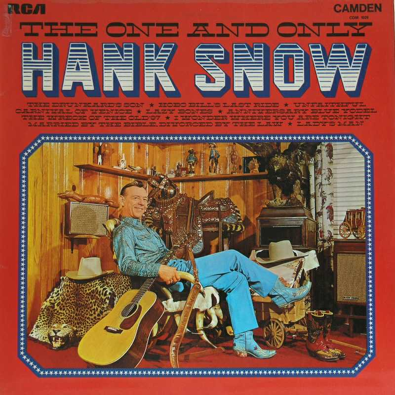 Hank Snow - The One And Only Hank Snow  (Country Music vinyl record for sale)