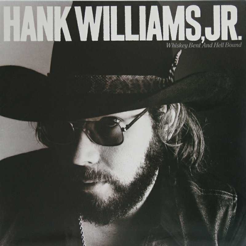 Hank Williams Junior - Whiskey Bent And Hell Bound (Country Music vinyl record for sale)