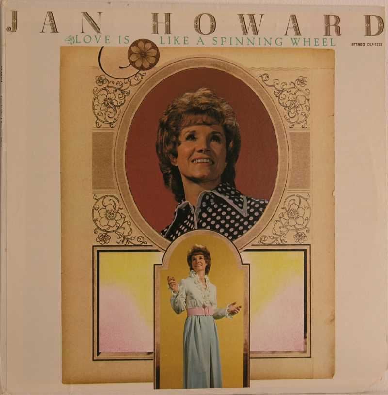 Jan Howard - Love Is Like A Spinning Wheel (Country Music vinyl record for sale)