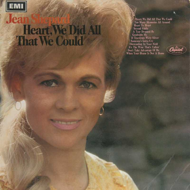 Jean Shepard - Heart, We Did All We Could  (Country Music vinyl record for sale)