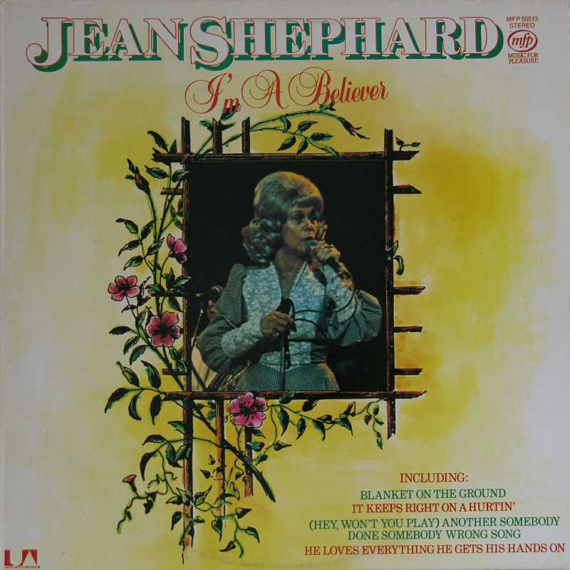 Jean Shepard - I'm A Believer  (Country Music vinyl record for sale)
