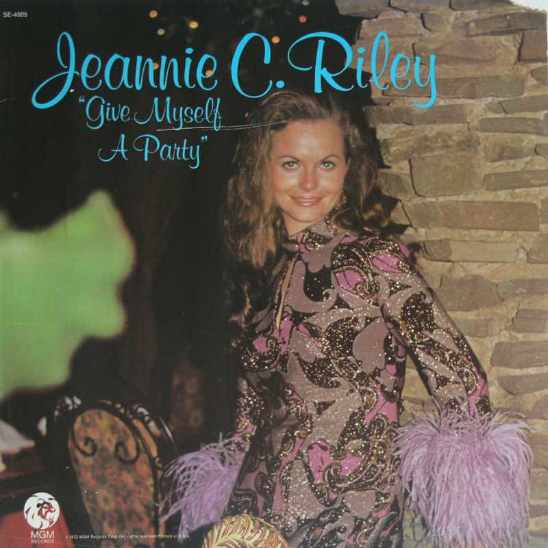Jeannie C Riley - Give Myself A Party (Country Music vinyl record for sale)