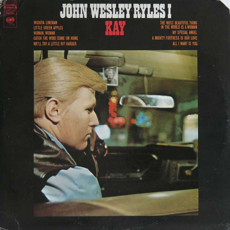 John Wesley Ryles - Kay (Country Music vinyl record for sale)