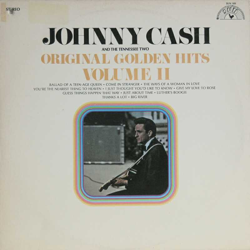 Johnny Cash - Original Golden Hits volume two  (Country Music vinyl record for sale)