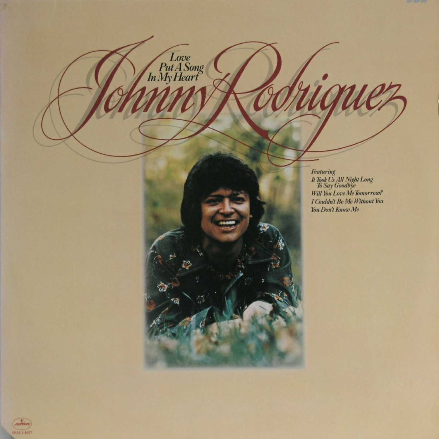 Johnny Rodriguez - Love Put A Song In My Heart  (Country Music vinyl record for sale)