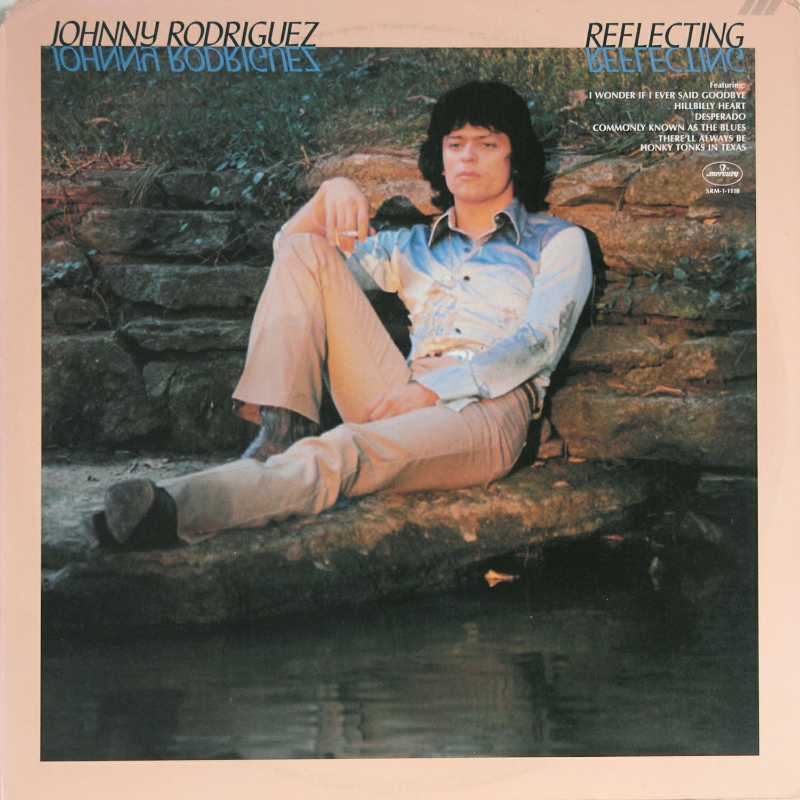 Johnny Rodriguez - Reflecting  (Country Music vinyl record for sale)