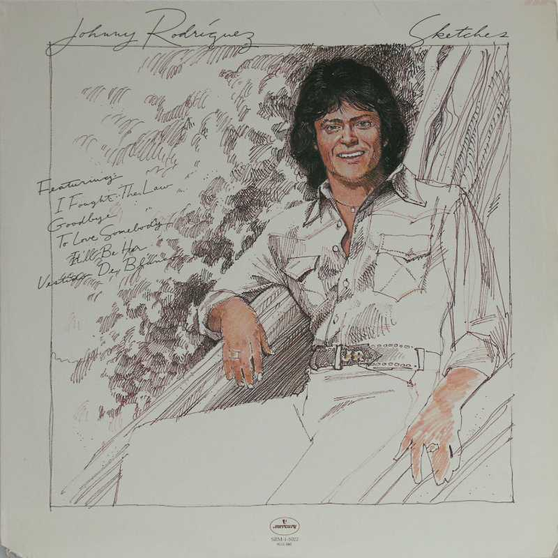 Johnny Rodriguez - Sketches  (Country Music vinyl record for sale)