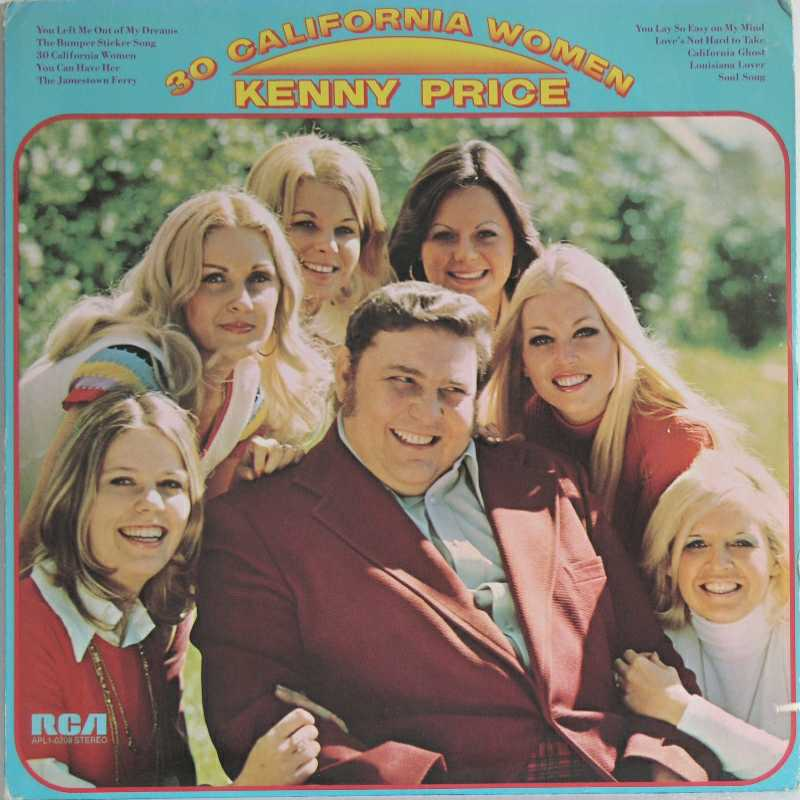 Kenny Price - Thirty California Women (Country Music vinyl record for sale)