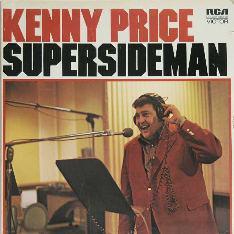 Kenny Price - Super Sideman (Country Music vinyl record for sale)