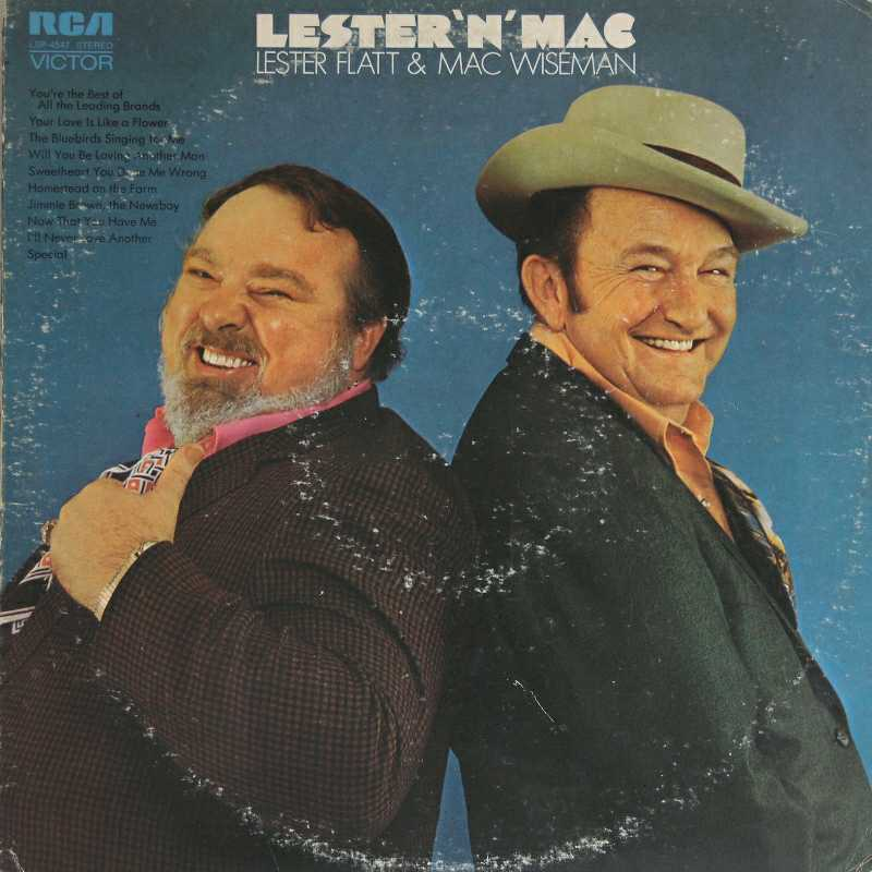 Lester Flatt and Mac Wiseman - Lester And Mac (Country Music vinyl record for sale)