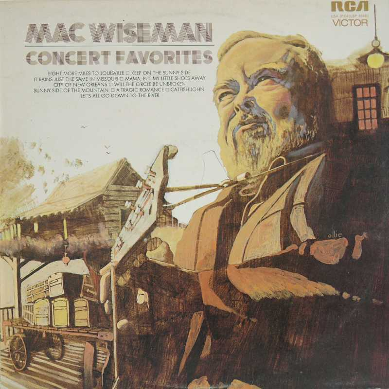 Mac Wiseman - Concert Favorites  (Country Music vinyl record for sale)