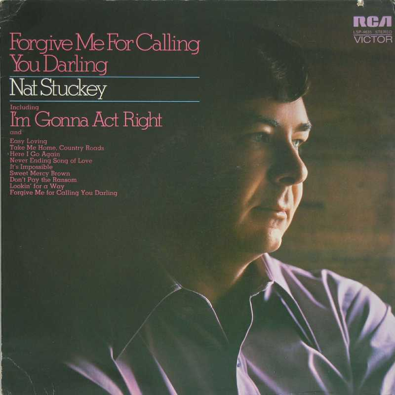 Nat Stuckey - Forgive Me Me For Calling You Darling (Country Music vinyl record for sale)