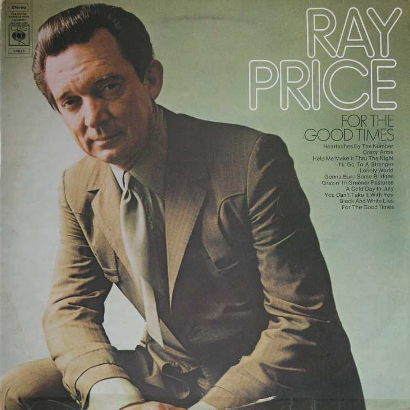 Ray Price - For The Good Times (Country Music vinyl record for sale)