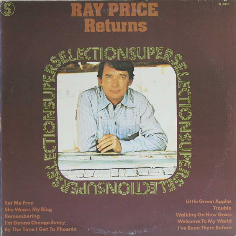 Ray Price - Ray Price Returns (Country Music vinyl record for sale)