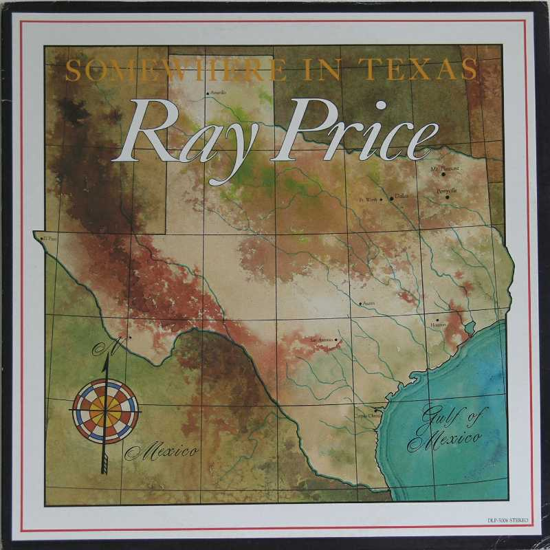 Ray Price - Somewhere In Texas (Country Music vinyl record for sale)