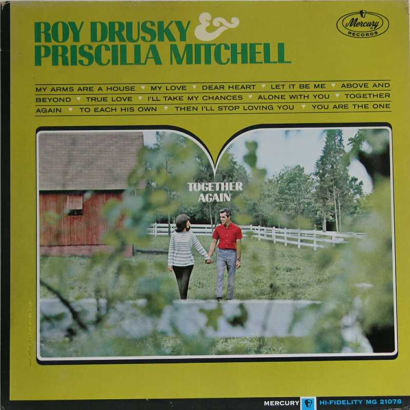 Roy Drusky And Priscilla Mitchell - Together Again (Country Music vinyl record for sale)