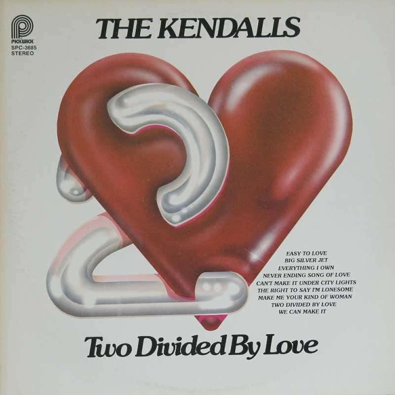 The Kendalls - Two Divided By Love (Country Music vinyl record for sale)