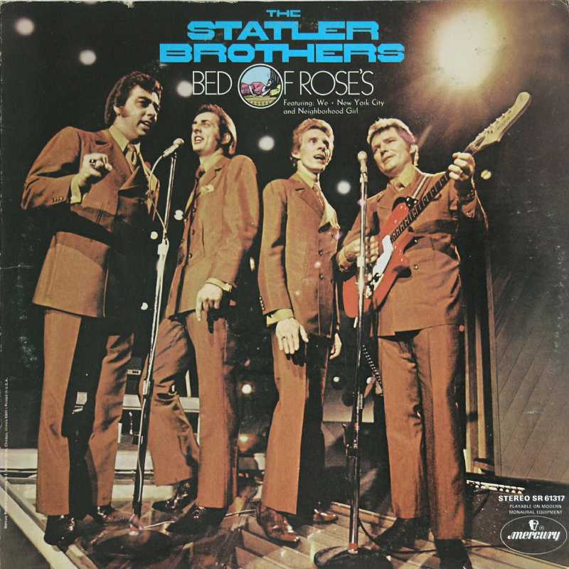 The Statler Brothers - Bed Of Roses  (Country Music vinyl record for sale)