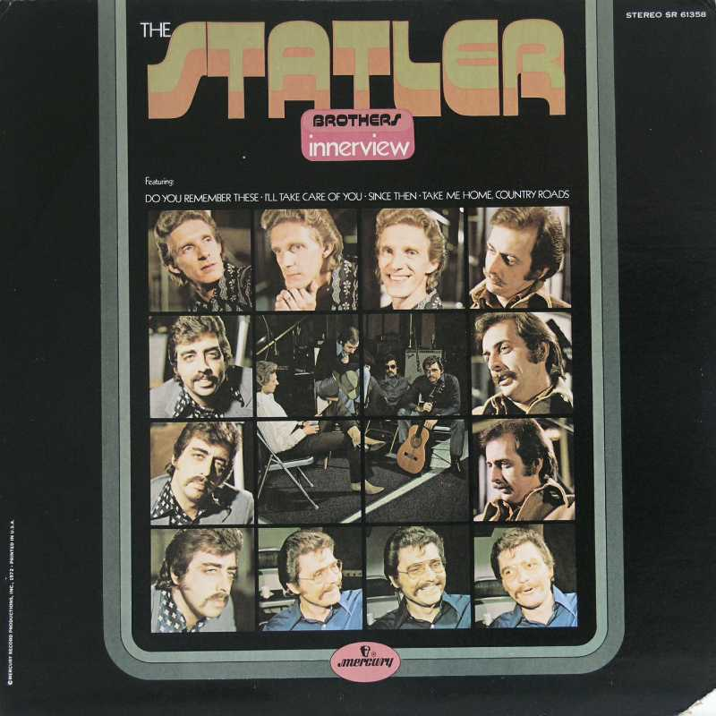 The Statler Brothers - Innerview (Country Music vinyl record for sale)