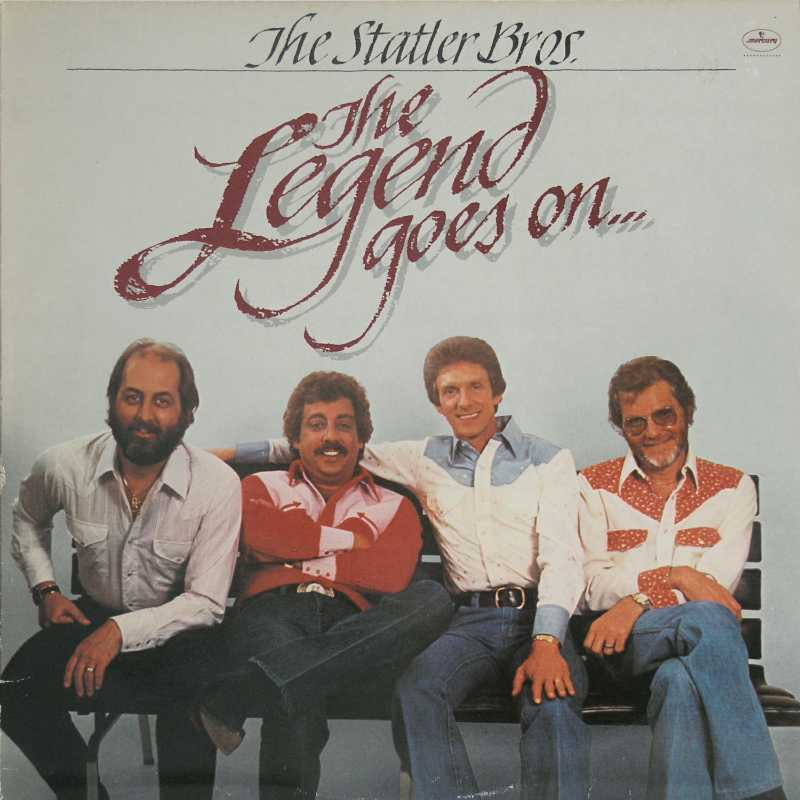 The Statler Brothers - The Legend Goes On (Country Music vinyl record for sale)