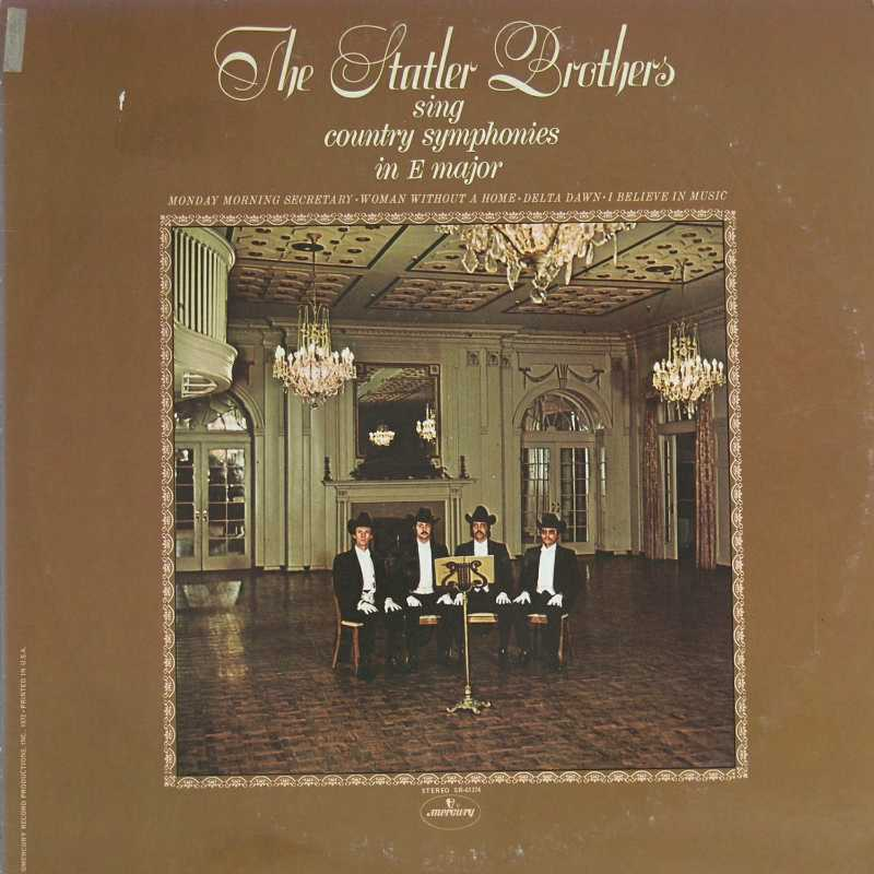 The Statler Brothers - The Statler Brothers Sing Country Symphonies In E Major  (Country Music vinyl record for sale)