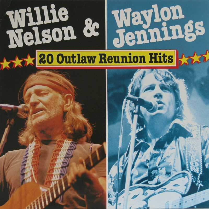 Waylon Jennings - Twenty Outlaw Reunion Hits (Country Music vinyl record for sale)