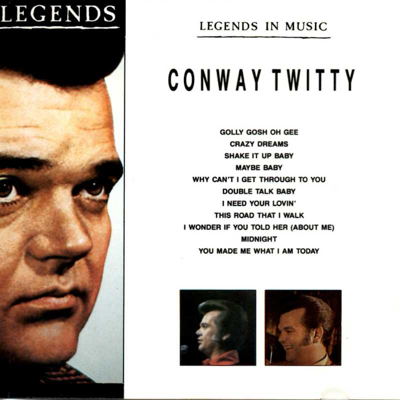 Conway Twitty Legends In Music, Conway Twitty (Country Music vinyl records and CDs for sale)
