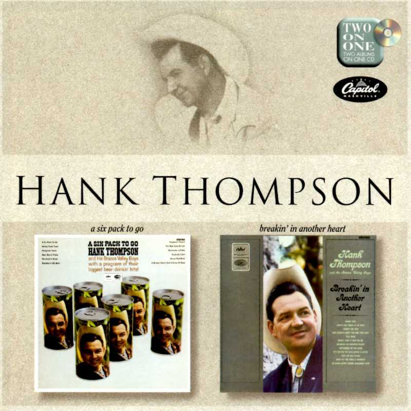 Hank Thompson - A Six Pack To Go And Breaking In Another Heart(Country Music vinyl records and CDs for sale)