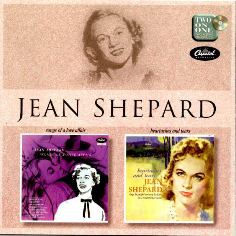 Jean Shepard - Songs Of a Love Affair And Heartaches And Tears(Country Music vinyl records and CDs for sale)