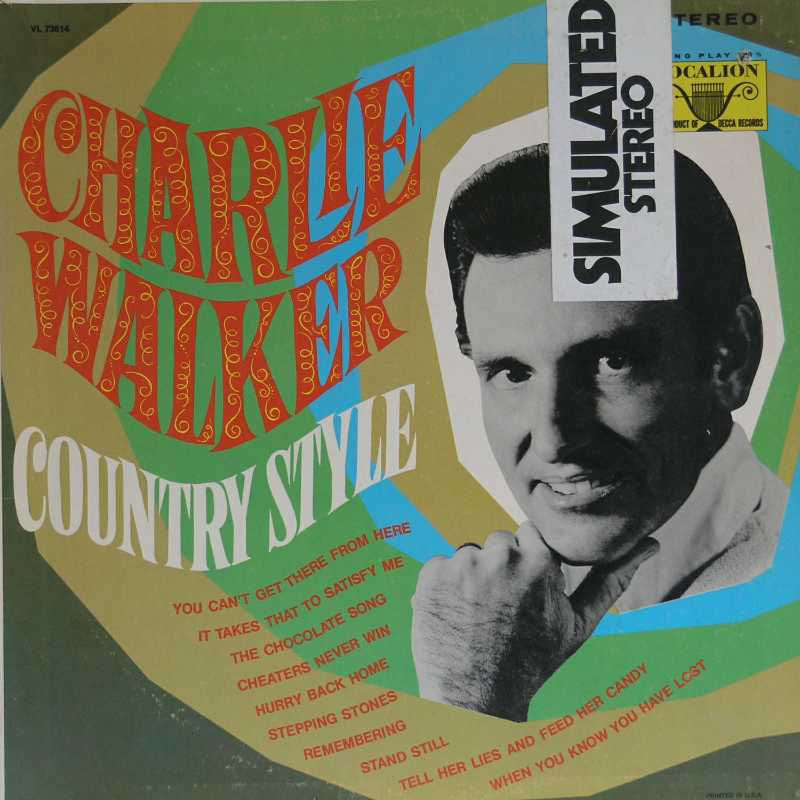 Charlie Walker - Country Style (Country Music vinyl record for sale)
