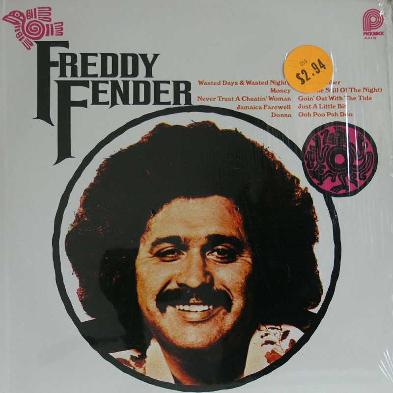 Freddy Fender - Wasted Days And Wasted Nights (Country Music vinyl record for sale)