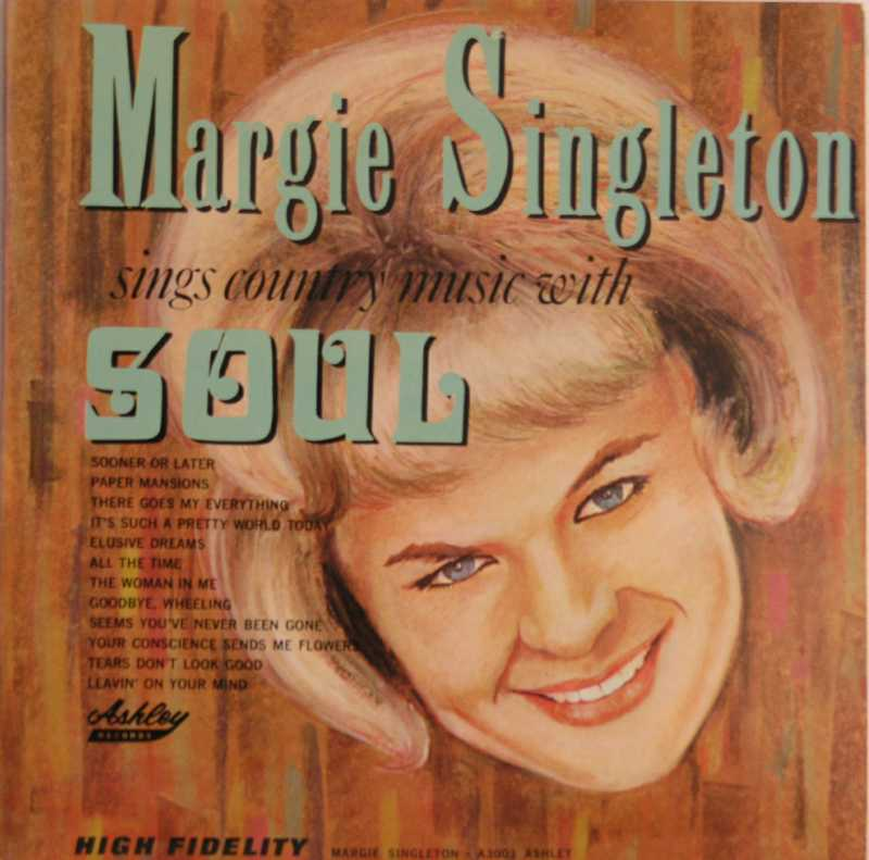 Margie Singleton - Sings Country Music With Soul (Country Music vinyl record for sale)