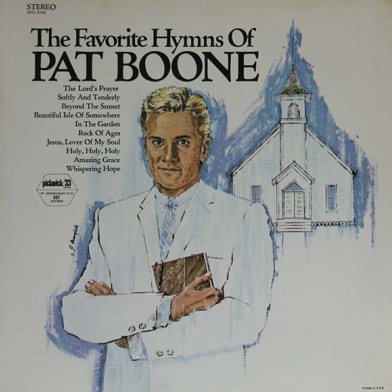 Pat Boone - The Favorite Hymns Of Pat Boone (Country Music vinyl record for sale)